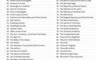 Agatha Christie Mystery Book List 25 Background